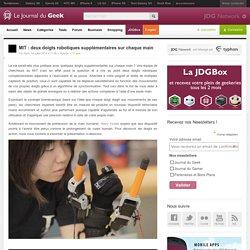 MIT : deux doigts robotiques supplémentaires sur chaque main