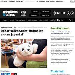 Robotisoiko Suomi hoitoalan ennen Japania?
