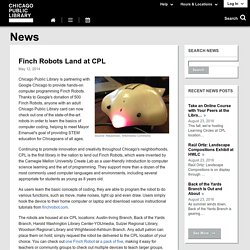 Finch Robots Land at CPL Altgeld