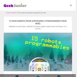 15 mini-robots pour apprendre à programmer et jouer - Geek Junior -