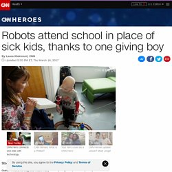 Robots attend school in place of sick kids