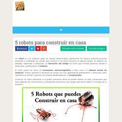 5 robots para construir en casa ~ Full aprendizaje