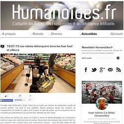 Les robots débarquent dans les fast food et ailleurs