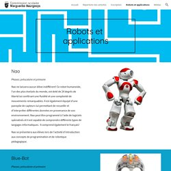 Robots et applications