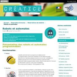 Robots et automates - Créatice