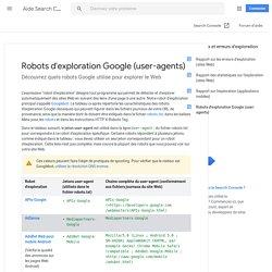 Robots d'exploration Google - Aide Search Console