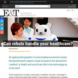 Can robots handle your healthcare?