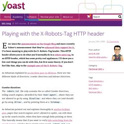 X-Robots-Tag HTTP header examples