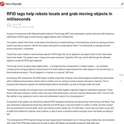 RFID tags help robots locate and grab moving objects in milliseconds