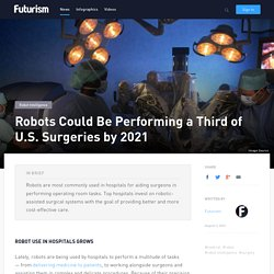 Robots Could Be Performing a Third of U.S. Surgeries by 2021