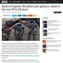 Robots replacing 50% of human jobs in next 20 years