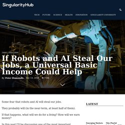 If Robots and AI Steal Our Jobs, a Universal Basic Income Could Help