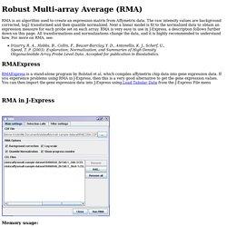 Robust Multi-array Average (RMA)