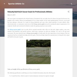 Robustly Built 8x24 Soccer Goals for Professionals Athletes