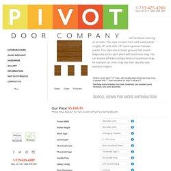 Robyn Exterior Door: Pivot Door Company