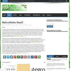 Roche vs Illumina – Round 2
