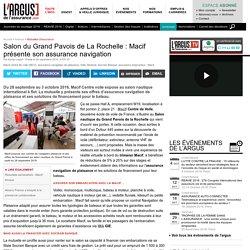Salon du Grand Pavois de La Rochelle : Macif présente son assurance navigation