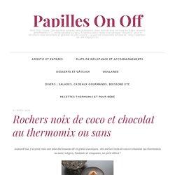 Rochers noix de coco et chocolat au thermomix ou sans