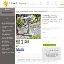 Fontaine solaire bain d'oiseau Rochester