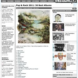 Pop & Rock 2011: 30 Best Albums