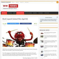 Rock Legend Animal Dies Aged 66