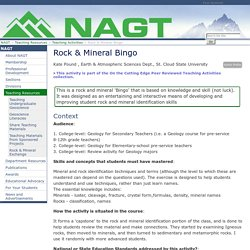 Rock & Mineral Bingo