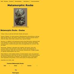 Rock Types - Gneiss