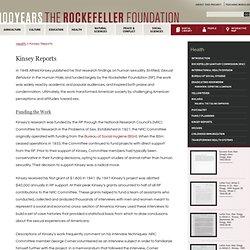 KINSEY financéPar laFondation Rockefeller