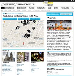 Rockefeller Center & Vicinity Travel Planner -- New York Magazine's Visitor's Guide