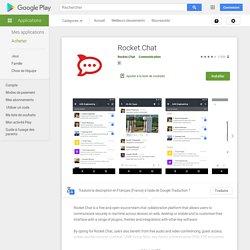 Rocket.Chat – Applications sur GooglePlay