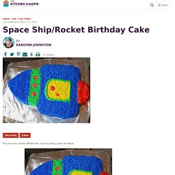 Space Ship/Rocket Birthday Cake