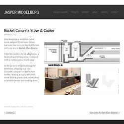 Rocket Concrete Stove & Cooker – Jasper Middelberg