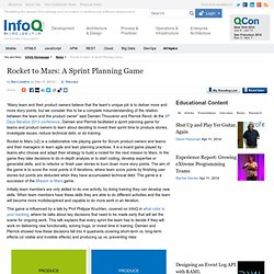 Rocket to Mars: A Sprint Planning Game