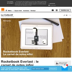 Rocketbook Everlast : le carnet de notes infini