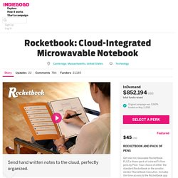 Rocketbook: Cloud-Integrated Microwavable Notebook