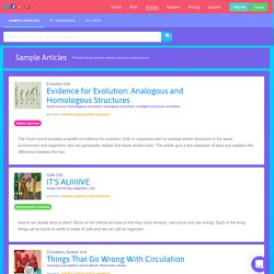 Standards Aligned Differentiated Science and History Articles
