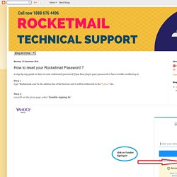 Rocketmail Technical Support: How to reset your Rocketmail Password ?