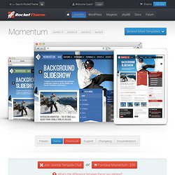 Joomla Templates - Momentum - October 2011