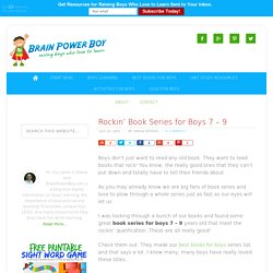 Rockin' Book Series for Boys 7 - 9 - Brain Power Boy