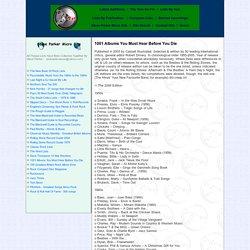 Rocklist.net...Steve Parker...1001 Albums.. - StumbleUpon