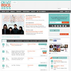 Oh My Rockness -- New York City's indie rock show list