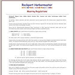 Town of Rockport Mooring Regulations