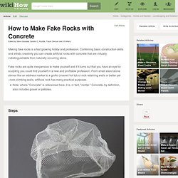 How to Make Fake Rocks with Concrete