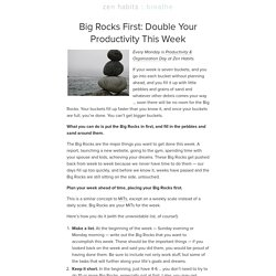 Big Rocks First: Double Your Productivity This Week
