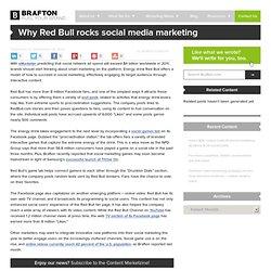 Why Red Bull rocks social media marketing