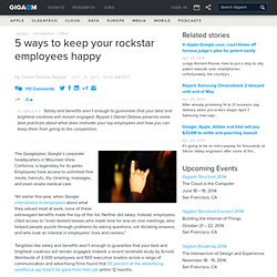 5 ways to keep your rockstar employees happy — Online Collaboration