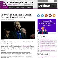 Rockströms plan: Global Carbon Law ska stoppa utsläppen
