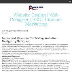 web designer rockville maryland - auxiliumtechnology