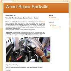 Wheel & Tire Detailing; A Comprehensive Guide