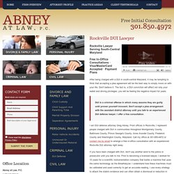 Montgomery County MD Drunk Driving Defense Lawyer